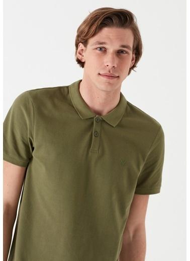 Mavi Yeşil Polo Tişört Yeşil